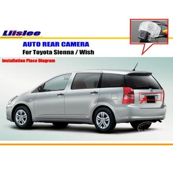 Car Rear View Reversing Camera For Toyota Sienna Wish 2009~2014 Back Up Parking Camera Full HD License Plate Light CAM owlcat sony full hd 2 0mp 1920 1080p license plate recognition lpr camera outdoor waterproof ip66 license plate capture camera