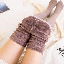 Inverno velo collants velo meia calça alta elástica grossa calças femininas mais tamanho collant elástico meias de meia calça