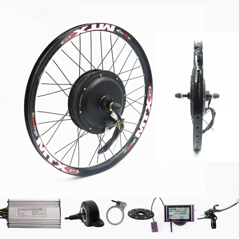 70 km/h 72v 2000W zestaw do roweru elektrycznego z tylnym kołem zestaw do konwersji roweru na elektryczny