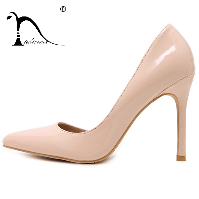 03b339cd FEDIROMA mujer bombas verano tacones altos puntiagudos zapatos de boda mujer  Sexy zapatos de tacón alto para mujer 5 colores en Bombas de las mujeres de  ...