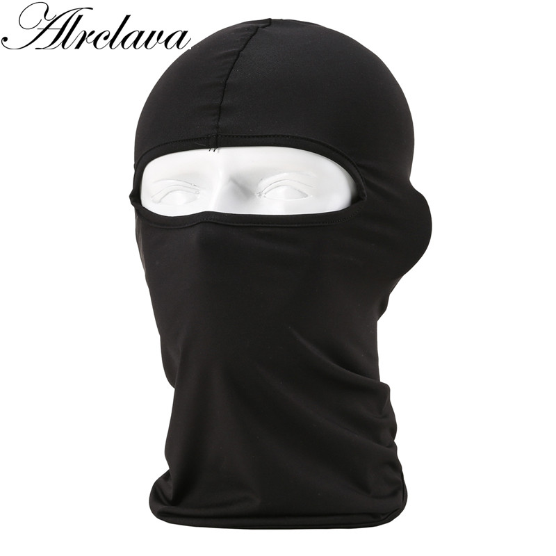 Unisex Hat Balaclava-Mask Face Winter Headgear Casual New Windproof Solid Neck-Guard-Masks