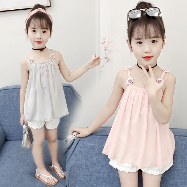 b739767d164 Children s Garment Girl Suit Summer Wear New Pattern Korean Children Summer  Girl Western Style Fashionable Twinset