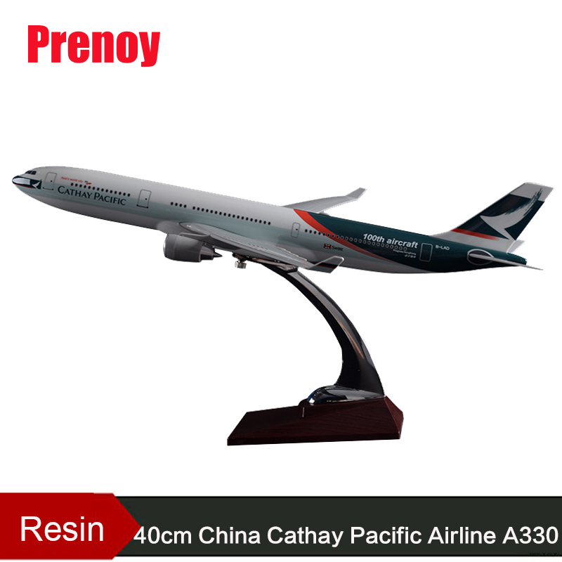 40cm Resin A330 Cathay Pacific Airway Model 100th Anniversary Aircraft Airplane China Cathay Pacific Aviation Airbus Model Toys