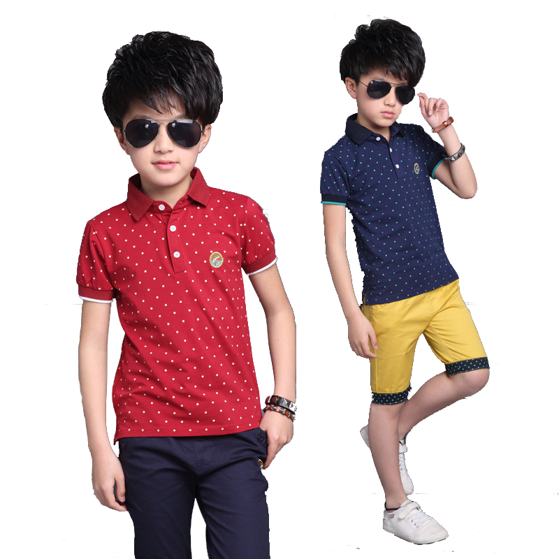 Boys Clothes Sets Dots Children Clothing Sets for Boys Summer Tracksuits for Kids Cotton Tops & Pants Suits Infant Costumes Suit kids clothes boys clothing sets summer sport suit children short sleeve camouflage pant suits 1 4t toddler tracksuits 2017