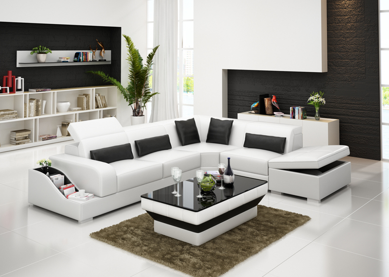 living room nice color leather corner sofa designs 711 0413 g8008d in living room sets from. Black Bedroom Furniture Sets. Home Design Ideas