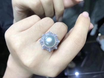 Gorgeous 925 Silver Adjustable Pearl Ring Settings Findings Mountings Parts for Oyster Edison Pearls Corals Jade Beads Stones