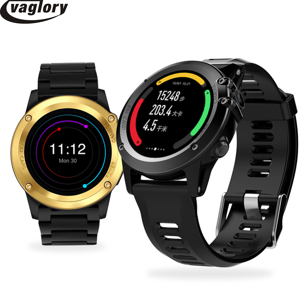 H1 Smart Watch MTK6572  Android 4.4 OS  With 512MB RAM 4GB ROM GPS SIM 3G Heart Rate Monitor Camera Waterproof Sports Wristwatch crcular shape no 1 d5 android 4 4 bluetooth gps smart watch with heart rate monitor google play gps 4g rom 512m ram smartwatch