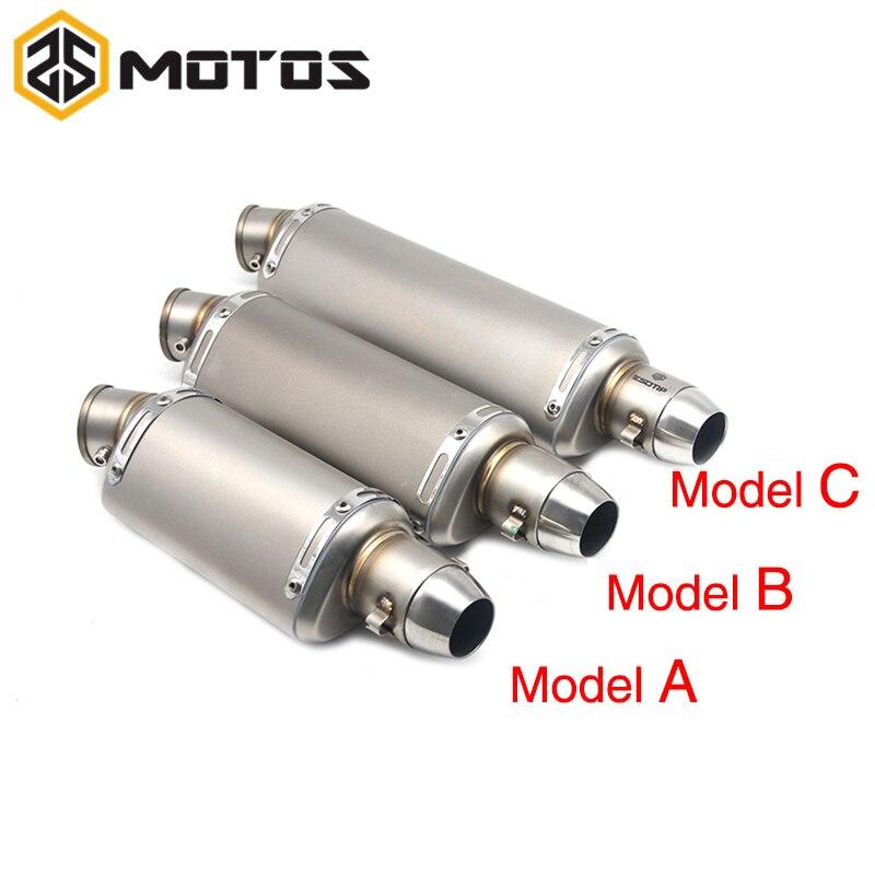 ZS moto S 51mm tubo de escape modificado para motocicleta codo silenciador de moto escape silenciador modificada para GY6 YZR R6 CBR125
