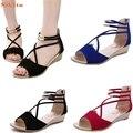 De alta qualidade Da Forma Das Mulheres Sandálias Flat Sapatos Casuais Sapatos de Verão Dedo Aberto Chinelos