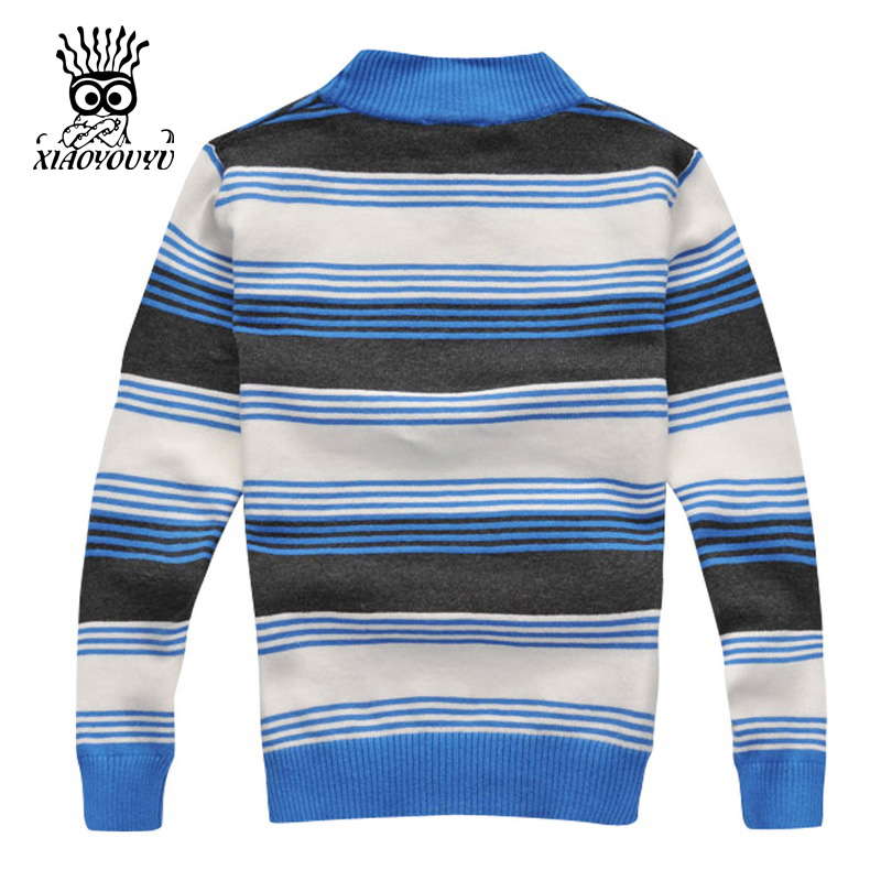 XIAOYOUYU-Size-110-150-Kids-Sweaters-Long-Sleeve-Casual-Style-Stripe-Design-Boys-Warm-Pullovers-Stand-Collar-Children-Clothing-4
