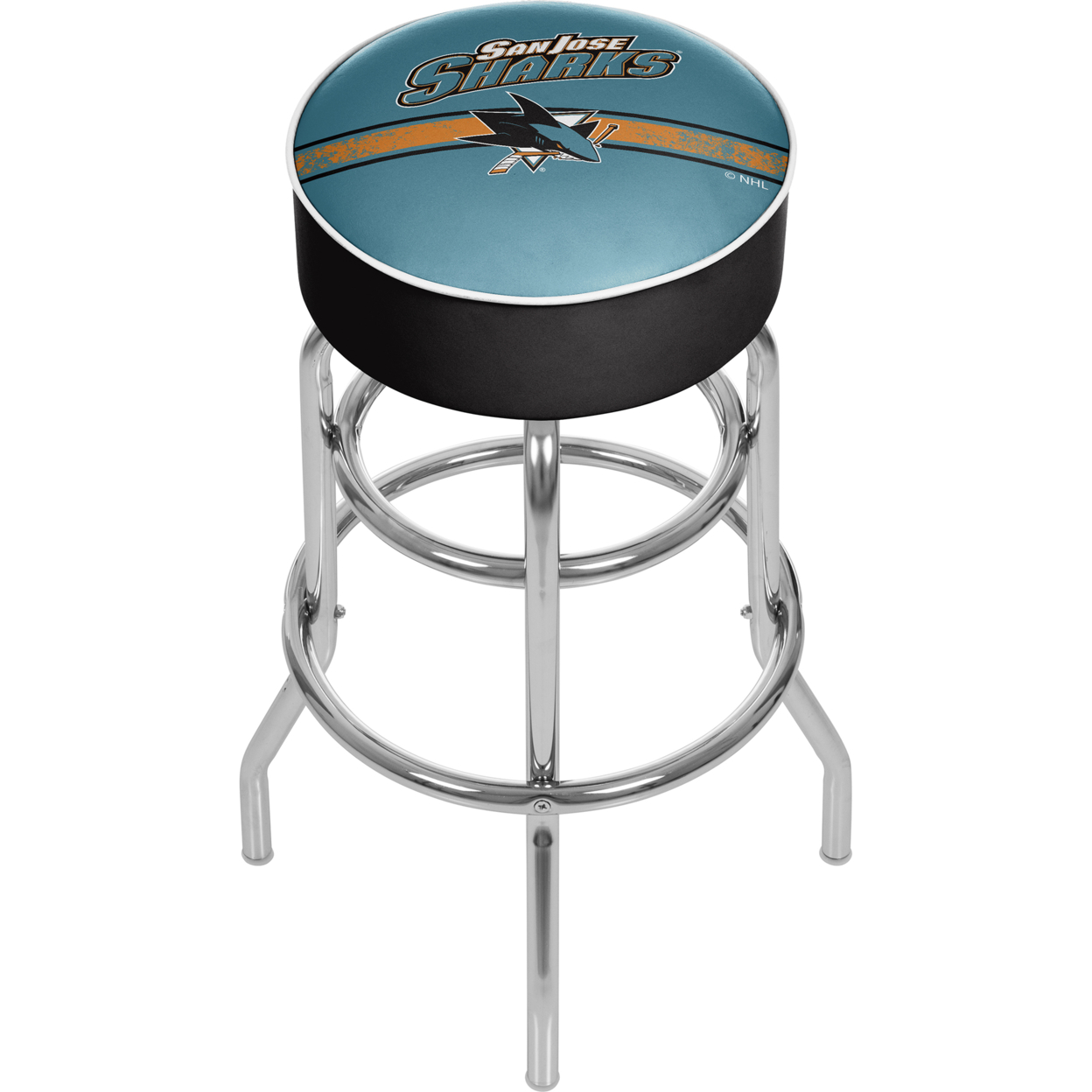 NHL Chrome Padded Swivel Bar Stool 30 Inches High - San Jose Sharks сумка printio san jose sharks