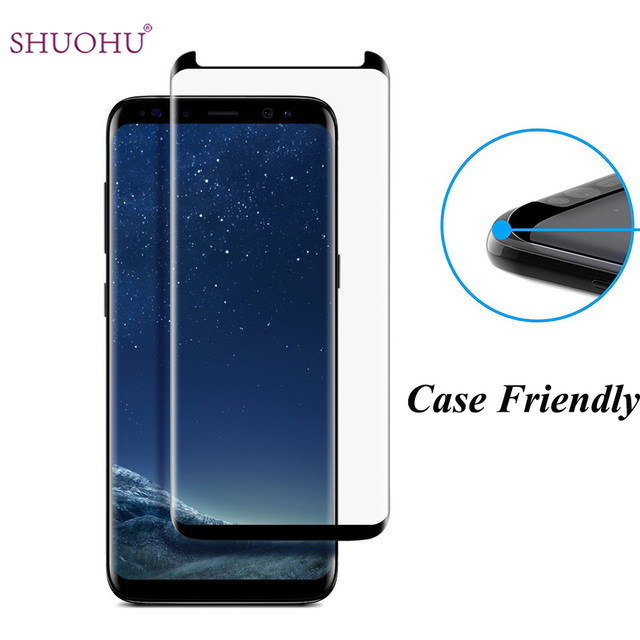 samsung galaxy s8 screen protector tempered glass case friendly