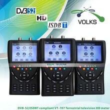 ISDB-T/DVB-S2 Compliant HD Mètre VT707 télévision Terrestre compteur HD Satellite finder compteur