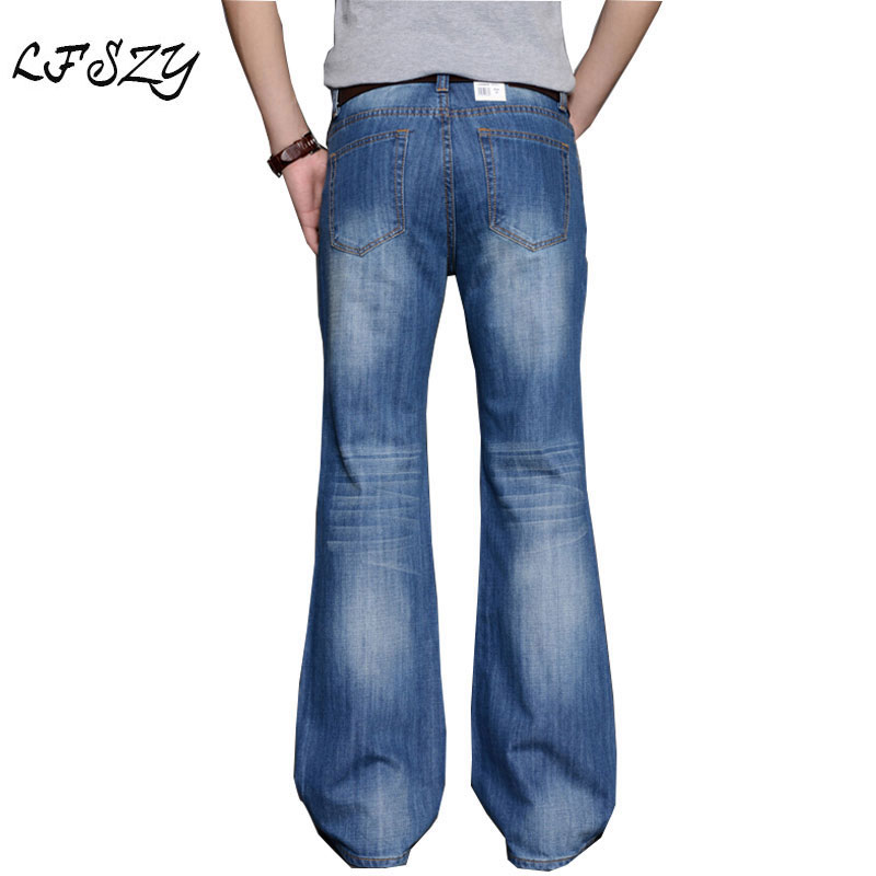 Four Seasons Style Men Casual Jeans Straight High Elasticity Solid Jeans 34 52 Plus Size Loose
