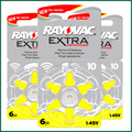 60x Rayovac extra Hearing Aid batteries 10 A10 p10 PR70 free shipping Zinc Air Battery for cic / mini BTE Hearing Aids