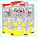 60x rayovac pilas para audífonos adicional 10 p10 a10 pr70 free libre Batería Del Aire Del Cinc para cic/mini BTE Audífonos