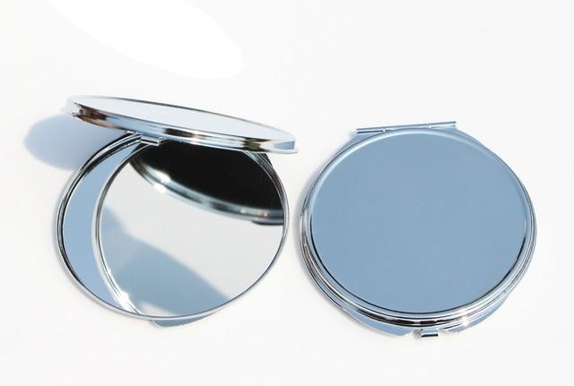 Make Up Spiegel : Neue tragbare make up spiegel fall runde silber kompakt bifold id
