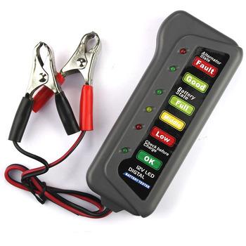Tester baterii 12 V LED Tester alternatora baterii dla samochodów osobowych i ciężarowych akcesoria tanie i dobre opinie Tester akumulatora pojazdu LUBOSKY Elektryczne RB00030