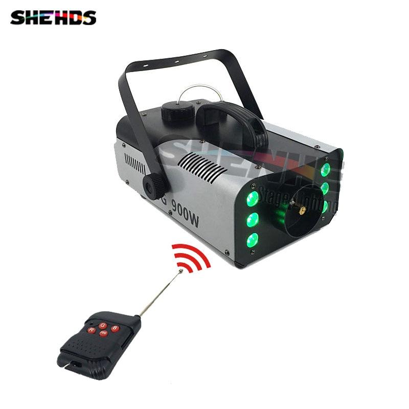 Mini 900W RGB 3IN1 Remote Control fog machine pump DJ Disco Smoke Machine for Party Wedding Christmas Stage Fogger Machine