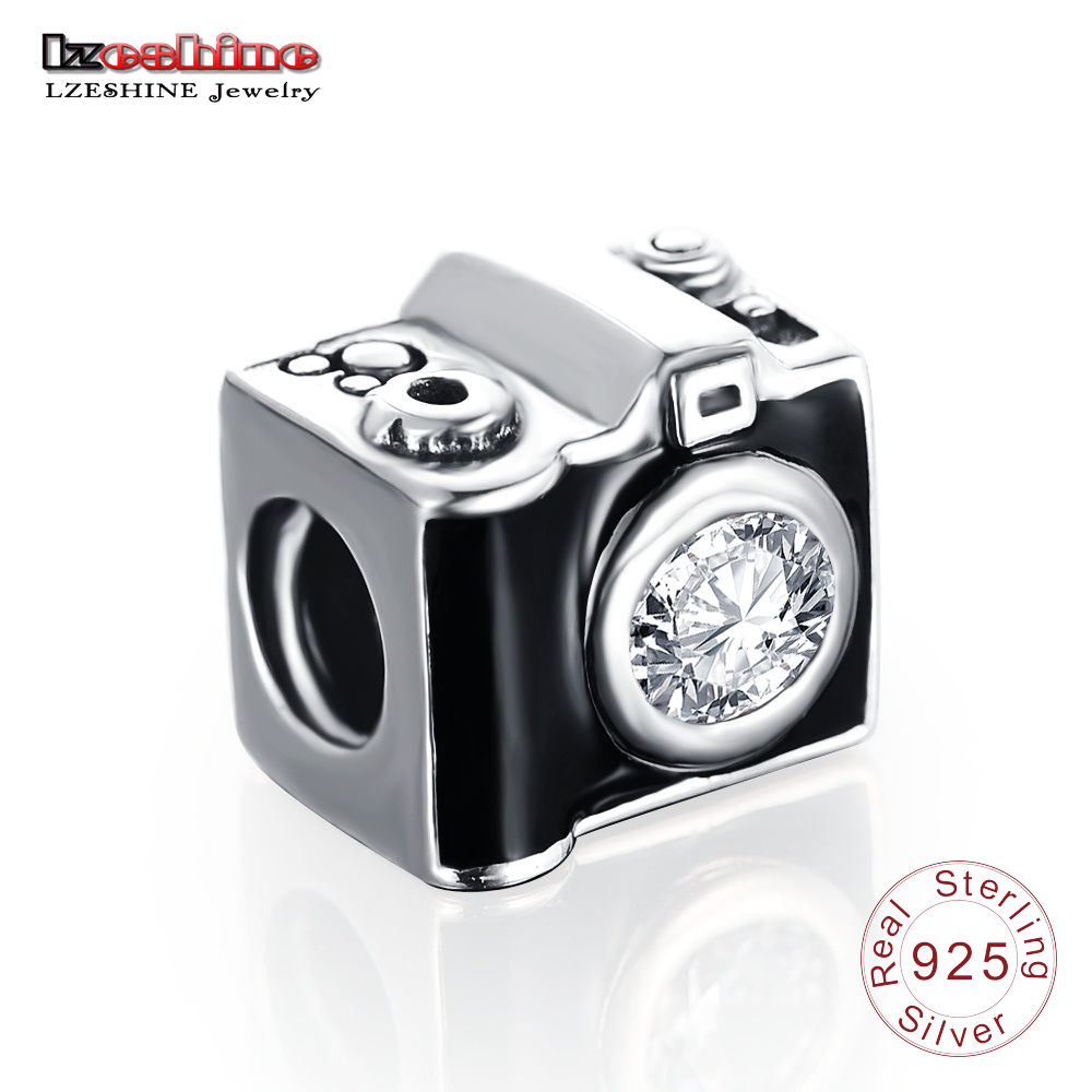 Lzeshine 925 Sterling Silver Camera Shape Beads Charm Fit
