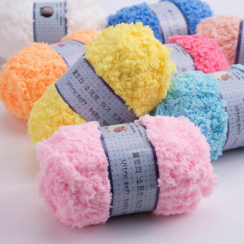 50g/ball Woolen Thick Coral Velvet Yarn Soft Baby Yarn Hand Knitting Cashmere Yarn Crochet Thread Infant Blanket Sweater JK492