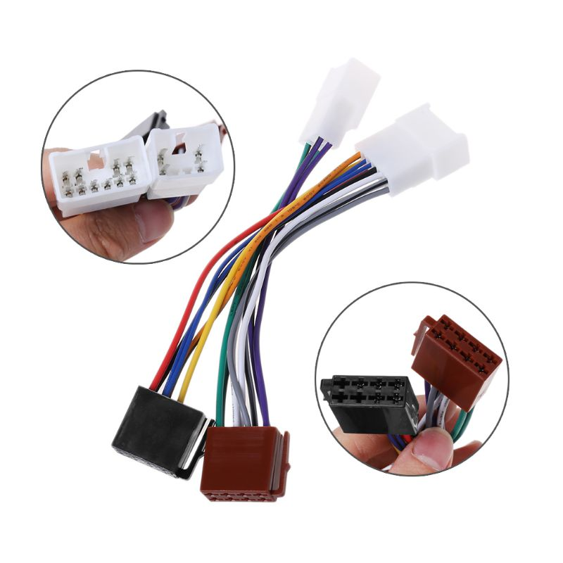 US $2.3 21% OFF|ISO Car Radio Wiring Harness Adapter Plug Cable For Rav Radio Wiring Harness on