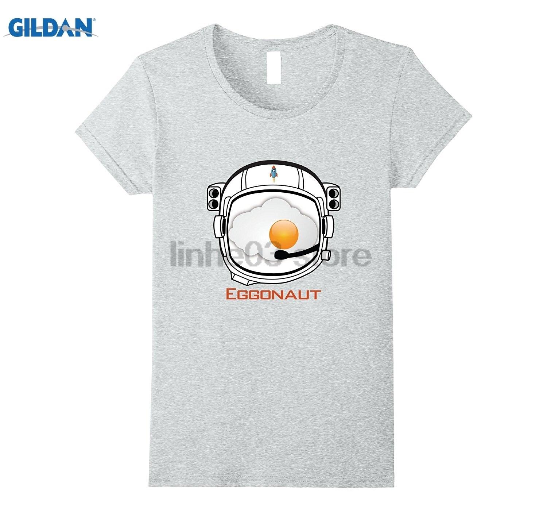 GILDAN Eggonaut Egg Astronaut Shirt Future Space Launch Helmet Tee Hot Womens T-shirt