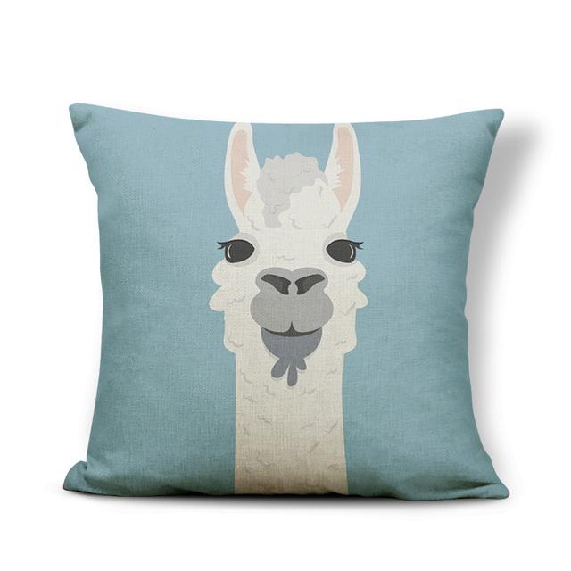 Colored Llama Pillowcase
