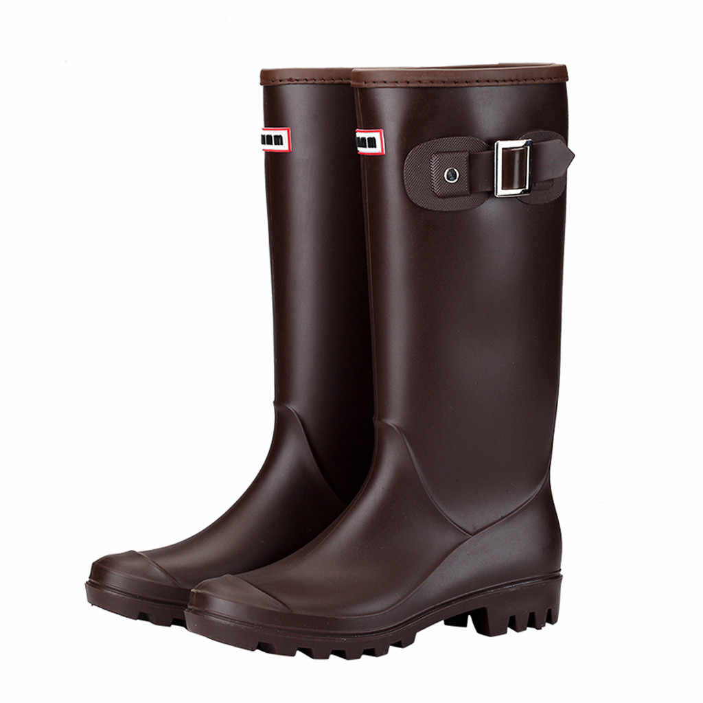 c647788067 Newest Fashion Women Shoes Leisure Low-Heeled Round Toe Shoe Waterproof  High Tube Rain Boots