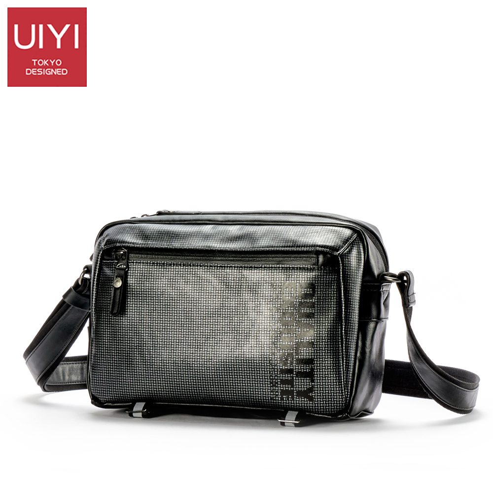 UIYI Men's Messenger Bag Handbag Men's Leather PU Shoulder Bag Black square casual Crossbody Bag Business Male pack #UYX7053 uiyi fashion pu leather handbag men casual messenger shoulder bag crossbody business sling satchel male tote bags 160077