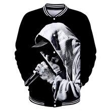 LUCKYFRIDAYF nuevo estilo EMINEM chaqueta de béisbol 3D impresión fresca  mujeres del resorte hombres moda Hip Hop otoño abrigos . dd2189992ef