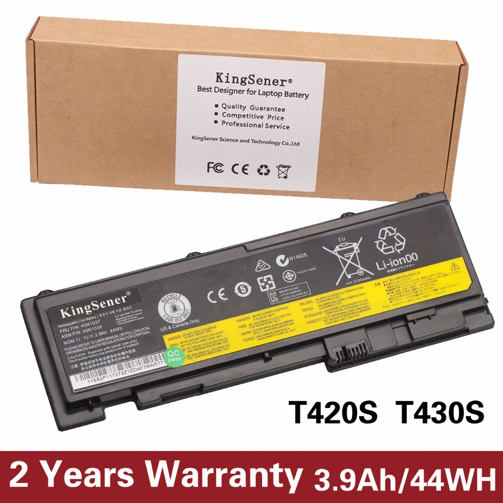 44WH New Laptop Battery For Lenovo ThinkPad T430S T420S T420si T430si 45N1039 45N1038 45N1036 42T4846 42T4847 2 Years Warranty 10 8v 5 2ah genuine new laptop battery for lenovo thinkpad t400 t61 t61p r61 r61i r400 14 42t4677 42t4531 42t4644 42t5263 6cell