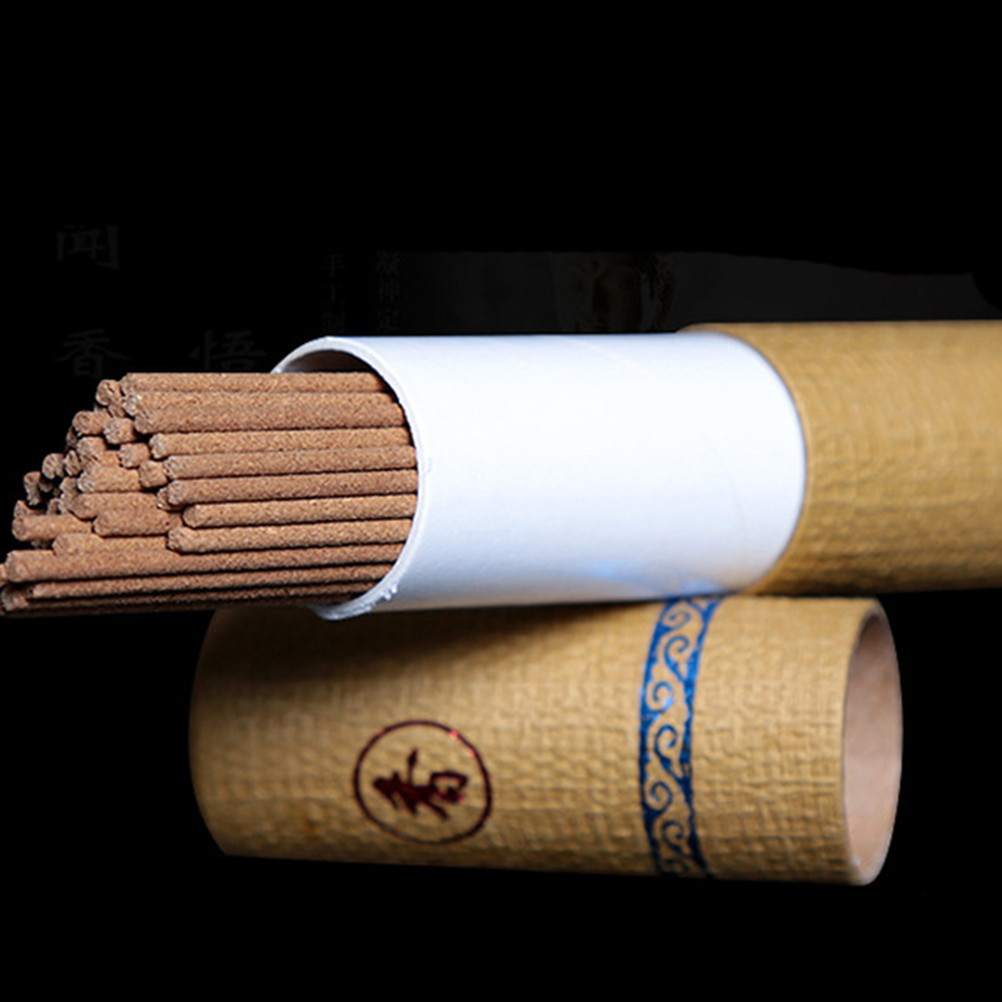 21cm 20g/Tube Pure Natural Wormwood Incense Stick Laoshan Sandalwood Sticks Indoor Good for Sleep Health
