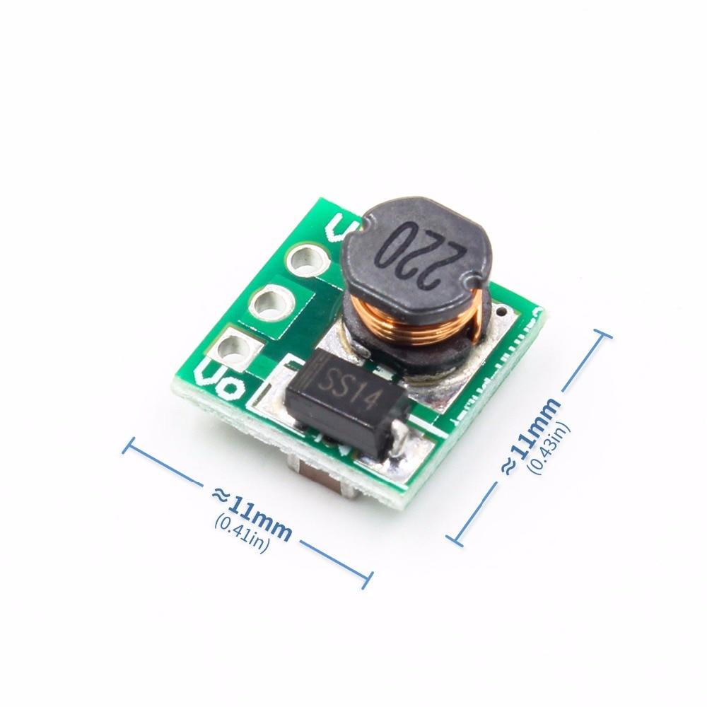 0.9-5V To 5V DC-DC Step-Up Power Module Voltage Boost Converter Board 1.5V 1.8V 2.5V 3V 3.3V 3.7V 4.2V To 5V Green