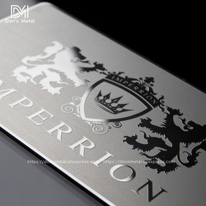 Image 3 - Metal business card metal membership card design mirror metal business card high grade mirror card custom stainless steel busine