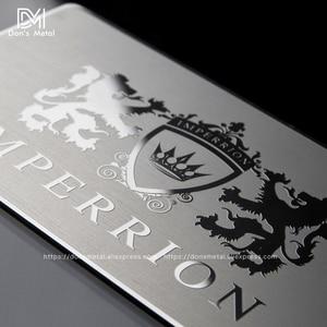 Image 3 - 金属名刺金属会員カードデザインミラー金属名刺鏡面カードカスタムステンレス鋼 busine