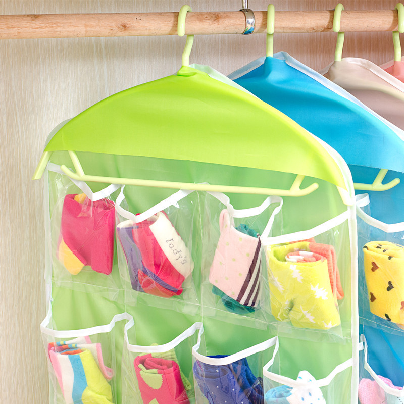 VEAMOR 4pc Home Sundries Jewelry Storage Bags Hanger Organizer