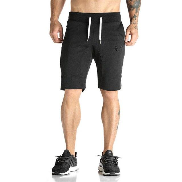 ef05367d95b6f Mens verão de fitness Musculação shorts moda Casual Bezerro-Comprimento Moletom  masculino academias de ginástica