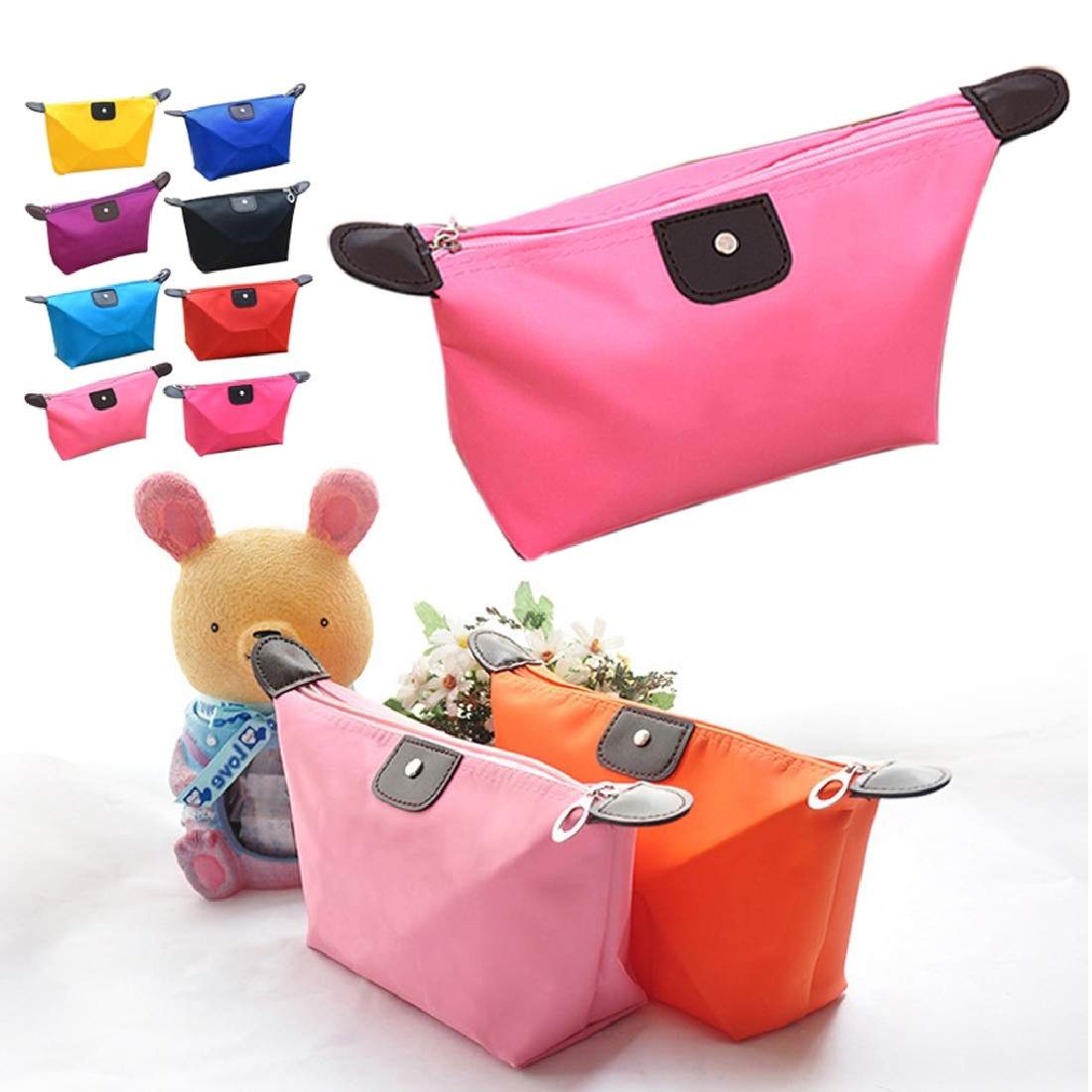 Good Quality WomenS Pouch Bag Handbag Travel Make Up Cosmetic Purse Zipper Holder Organiser Storage Toiletry