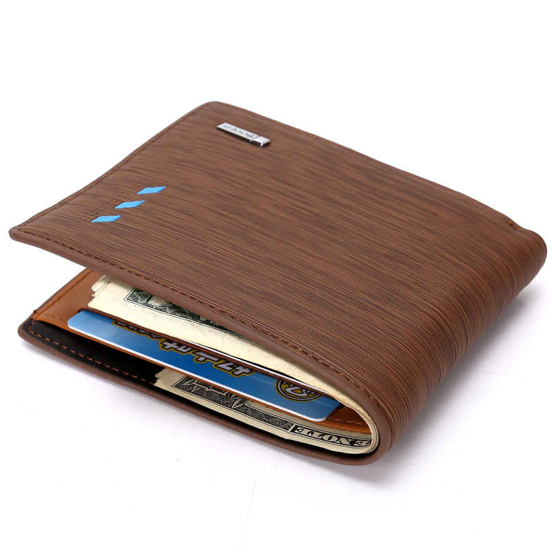 2018 New fashion Men Short Wallets Blue Brown Bifold Wallet Mens Brand Leather Card Holder Money Cash Wallet Purses Pockets стоимость