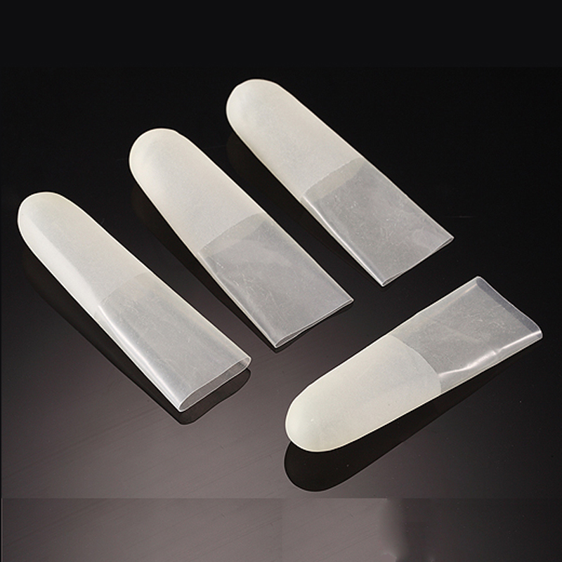 200pc Pure Natural Latex Powder-free Finger Cot Protective Fingertip Anti Static Cutting Edge ESD Watch Jewellery Work Gloves