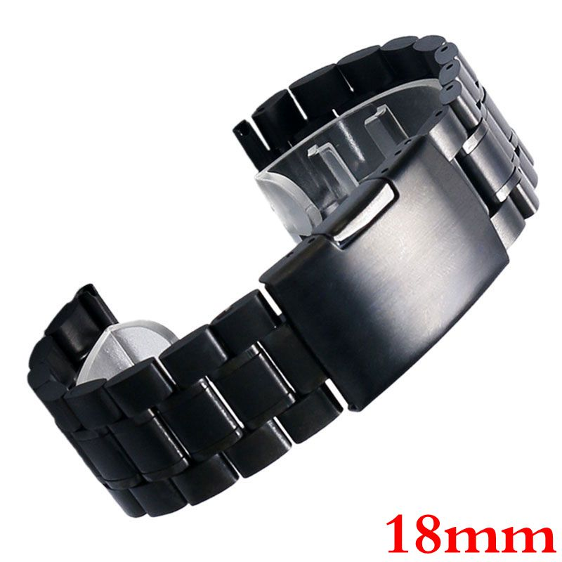 18mm Stainless Steel Mesh Watch Band Strap Fold over clasp with one push button With Safety Men Women Replacement GD011118 free shipping 5pcs in stock 74act04