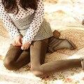 2017 Mujeres de La Manera Medias de Invierno Mujer Medias de Nylon Estándar Sólido Panti Mujeres Tight Calcetería Collant Medias Femeninas