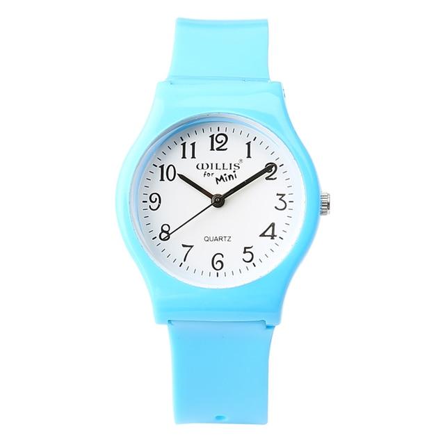 New Fashion Simple Transparent Mini Quartz Watch Waterproof Silicone Watch For W
