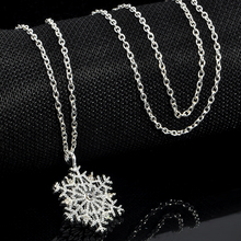 Fashion Charms lady Crystal Snowflake Zircon Flower Silver Plated Necklaces & Pendants Jewelry for Women Sweater necklace