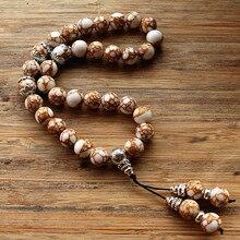 新しい10ミリメートル白い石ビーズ33数珠イスラム教徒tasbihアッラーモハメッドロザリオ用女性男性