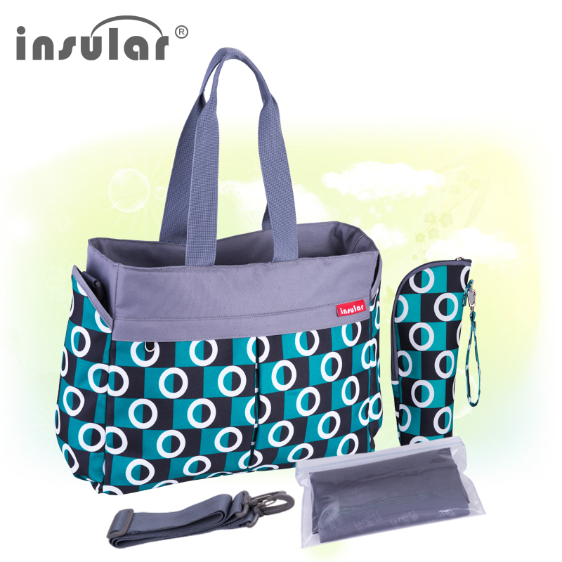 INSULAR Diaper Bag Multifunctional Waterproof Baby Bag For Stroller Nappy Changing Bolsa Maternidade Mummy Bag Portable