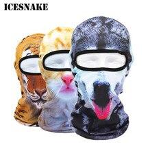 ICESNAKE 3D Animal Cat Dog Balaclava Bicycle Bike Hats Snowboard Party Halloween Helmet Winter Warmer Full Face Mask