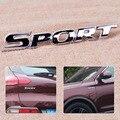 Estilo do carro Auto Racing Moto Scooter de 3D Logotipo Emblema Esporte Palavra Letra Logo Emblema Emblema Autocolante Decalque de Prata