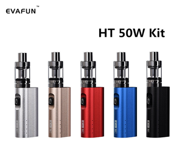 HT 50 Mod Starter Kit Electronic Cigarette 510 Vape 2200mAh Built-in Battery HT50 50W Box Mod 2ml Atomizer Tank Vaporizer Kit electronic cigarette 80w mod box kit built in 2000mah battery box mod 3ml tank adjustable e cigarette big smoke atomizer vape